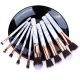 5/10pcs Set Of Makeup Fan Brushes Marble For Face Eye Cosmetic Powder Foundation Eye Shadow Cosmetics Soft Professional Eyebrows
