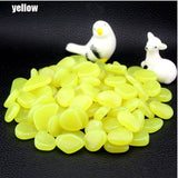 50Pcs Garden Pebbles Glow Stones Rocks for Walkways Garden Path