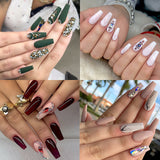 600pcs/bag False Nails Display Tips Acrylic Ballerina Artificial Transparent/Natural Guide Capsule Stiletto Full Cover Fake Nail
