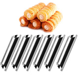 6pcs Cannoli Forms Cake Horn Mold Stainless Steel Cannoli Tubes shells Cream Horn Mould Pastry Baking Mold