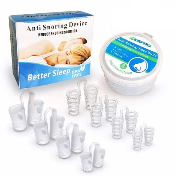 8PCS /set Snoring Solution Anti Snoring Devices Professional Snore Stopper