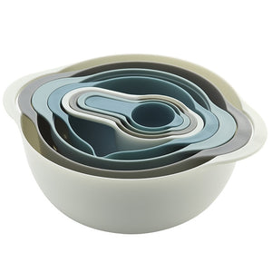 8Pcs/Set Mixing Bowls Free Nesting&Stackable Bowls Set