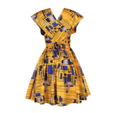 African Dresses for Women 2020 New Dashiki Print Summer Party Dress Bazin Robe Africaine Ankara Fashion Clothing Multifunctional