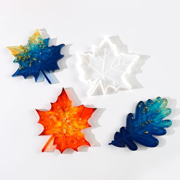 Agate Slice Silicone Mold Leaf Crystal Mold Make Your Own Coaster Resin Art Supplies Clear Coaster Mold Home Decoration Craft