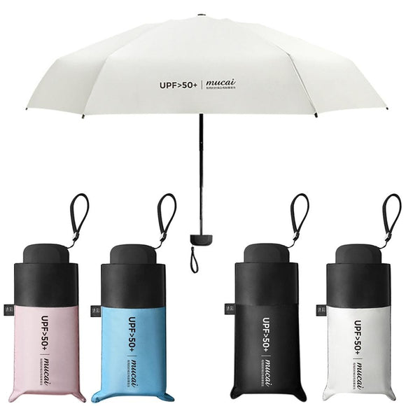 Anti-UV Pocket Mini Umbrella Rain Women Windproof Durable 5 Folding Sun Umbrellas