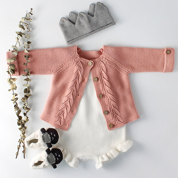Baby Girls Clothes Autumn Baby knitted Romper Set