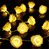 Battery USB Operated LED String Lights Rose Flower Valentine's Day Christmas Decoration Wedding Party Holiday Lamps Night D30