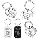 "Best Friends Keychain Keyring ""not Sisters By Blood But Sisters By Heart"" Friendship Jewelry Gift"