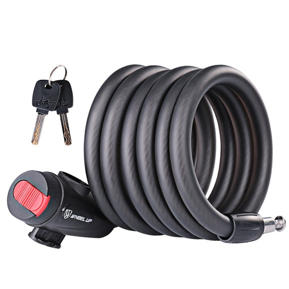 Bike Lock 1.8m Anti Theft Bicycle Accessories Steel Wire Security Bicycle Cable Lock