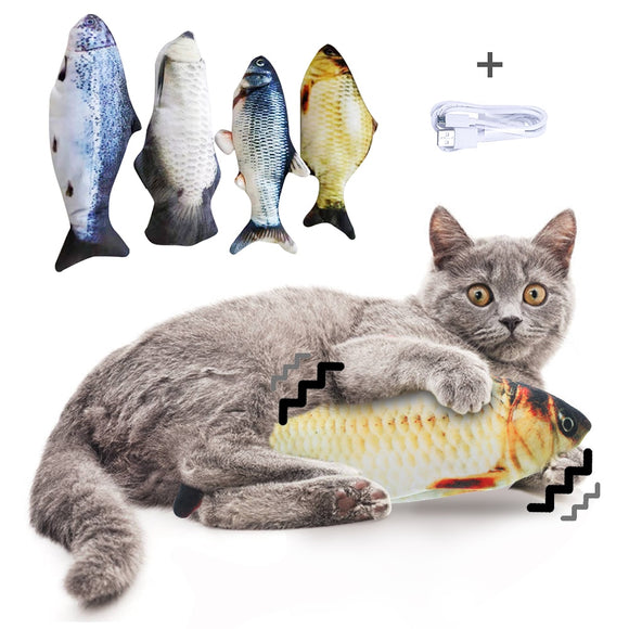Cat Toys For Electronic USB Charging Simulation Fish Toy