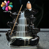 Backflow Smoke Waterfall Censer Use In Home Office Teahouse + 10pcs Cones