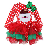 Christmas Dress For Teenage Girls Party Wear Kids Clothes Toddler Baby Tutu Outfits 3 4 5 6 7 8 Year New Year Children Clothing