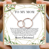 Christmas Gifts for Mom Necklace Double Circle Necklaces Women Round Circles Infinity Necklace Birthday Thanksgiving Day Gift