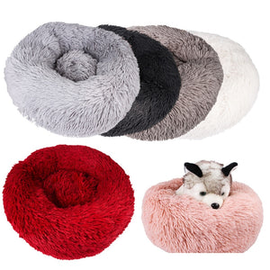 Pet Bed Marshmallow Cat Puppy Dog Nest Winter Warm Beds Sleeping Cushion S/M/L
