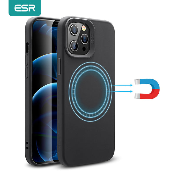 Soft Case for iPhone 12 /iPhone 12 Pro with Magnetic Ring support Magnetic Wireless Charger Liquid Silicone Case