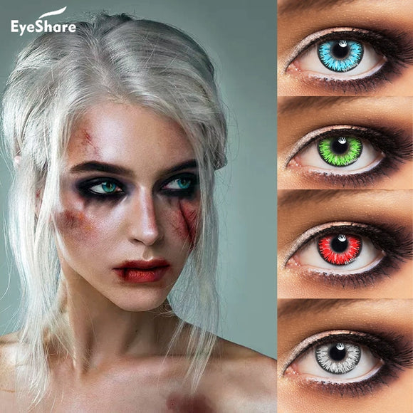 1 Pair  Eyecandy Cosmetic Contact Lens for Eyes Halloween Cosplay Lenses Contact  Lens Eye Color