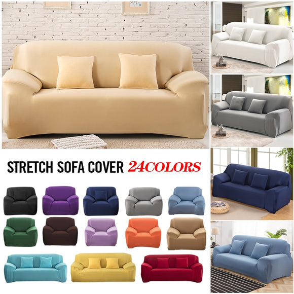 Elastic White Sofa Cover Stretch Tight Wrap All-inclusive Sofa Covers for Living Room Couch Cover Chair Sofa Cover Pillow Case