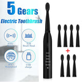 Electric Toothbrush Powerful Ultrasonic Sonic USB Charge