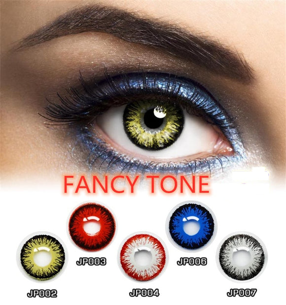 1 Pair Colored Halloween Contacts Crazy Contact Lens for cosplay Cosmetic Contacts Lenses Eye Color