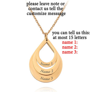 Family Jewelry pendant necklace Exquisite Elegant Custom Personalized Name Necklace Engrave 3 Names