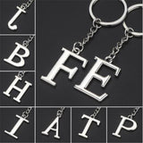 Fashion A-Z 26 Letters Key Chain Initial Letter Key Ring Keychain Women Men Best Friend Gift Jewelry Trinket