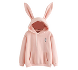 Fashion Cute Girl Sweatshirt Bunny Rabbit Ears Hoodie Hoody Women Casual Hoodies Sweatshirt Pullover Sweatshirt Jumper