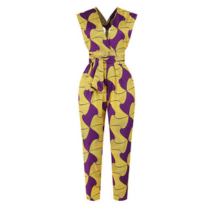 Bandage Robe Africaine Dashiki Jumpsuit Ethnic Sexy Dress For Women