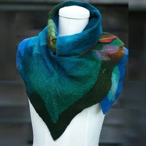 Fashion Scarf Women Green Purple Vintage Plain Shawls Women Scarf Buckle Design Cosplay Scarf Wrap Shawl