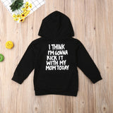 Casual Toddler Kids Baby Boy Girl T-Shirt Long Sleeve Black Autumn Hoodie Hooded Tops Sweatshirt Outwear