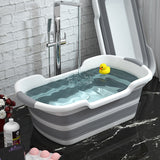 Foldable Baby Bath tub Laundry basket Portable Silicone Pet bathe tub Foot Bath Bucket Folding Non-Slip Bathroom Cat Dog Bathtub