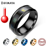 Temperature Display Ring Stainless Steel Intelligent Temperature Sensitive Rings