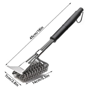 Grill Brush and Scraper, Best BBQ Cleaner, Perfect Tools for All Grill Types, Including Weber, Ideal Barbecue Accessories
