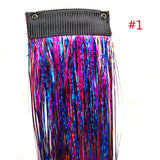 1 PCS Clip In Bling Hair Secoration Hair Tinsel Sparkling Hair Extention Strands For Women's Accessories