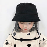Multifunctional Bucket Hat Kids Anti-dust Anti-spitting Anti-fog Droplets Cover Full Face Fisherman Cap Children Protective Hat