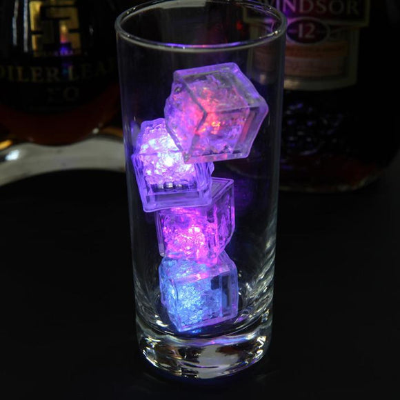 12pcs LED Ice Cubes NeonParty DIY Colorful Flash Prop Luminous Light