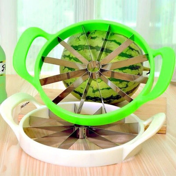 Large Size Watermelon Slicer Cutter Flower Windmill Shape Fruit Melon Knife Slicer Cantaloupe Divider Cutter Kitchen Tool