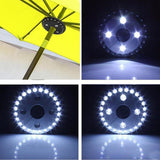 400LM 24+4LED Outdoor Cordless Patio Umbrella Pole Light Garden Portable Camping Tent Lamp Emergency Light With Hooks