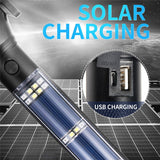 Multi-Function Lampe Torche 18650 Solar Power LED Flashlight With Hammer Power Bank Magnet