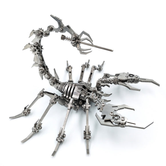 Small Ornaments Home Decor 3D Puzzle Scorpion King 3D Stainless Steel DIY Assembled Detachable Model Christmas Gifts 2019