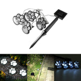4 LED Bear paw shape  Print Lights Solar Powered Garden Outdoors Lantern LED Path Walkway Lawn Light Decorative Lighting Lamp