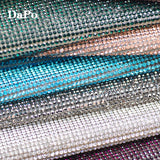 24*40cm SS6 17 Colors Glass Rhinestone Trim Crystal Beaded Applique Hotfix Iron On Strass Mesh Banding In Roll For Wedding Dress