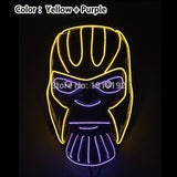 Halloween Carnival Party Costume Decoration Luminous LED Mask Halloween Mask LED Maske Light Up Party Masks for Glow Party