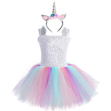 Black Unicorn Birthday Party Tutu Dress Children Carnival Harajuku Novel Outfit Clothes