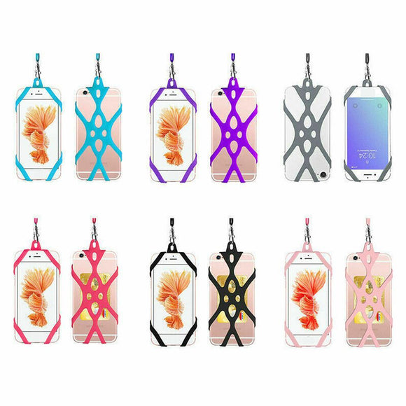 Super-Grip Phone Security Neck Strap Mobile Phone Harness Silicone Rope Lanyard