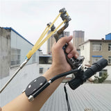 Powerful Multi-function Archery Bowfishing Shooting fish Slingshot Catapult Hunting bow Fishing Sling Shot arrow kit