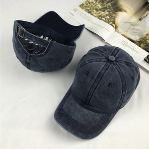 High quality Washed Cotton Adjustable Solid color Baseball Cap