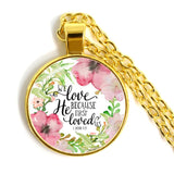 JESUS LOVES ME Bible Verses Nursery Verse Necklace Fashion Jewelry Religion Pendant Christian
