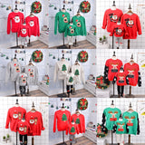 Jersey Christmas Sweater Family Look New Year Family Clothes Matching Outfits Shirt Father Mother Daughter Mom Me Kid Clothing