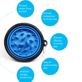 Pet Dog Cat Interactive Slow Food Bowls Collapsible Portable Gulp Slow Feeder Healthy Bloat Dish For Pet Feeding Tools