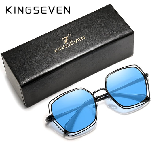 KINGSEVEN 2020 Elegant Series Women Polarized Sunglasses Double Frame